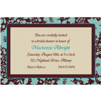 Cocoa Floral Custom Invitation