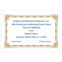 Gold Moulding Border Custom Invitation