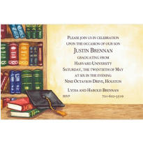 Black Graduate's Library Custom Graduation Invitation