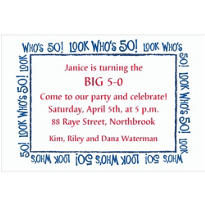 Look Who's 50! Custom Invitation