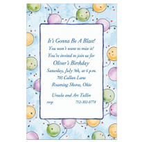 Pastel Balloons Custom Invitation