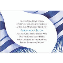 Graceful Navy Tallis Custom Invitation