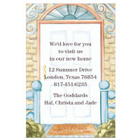 Scroll Front Door Custom Housewarming Invitation