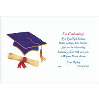 Mortarboard and Diploma Custom Invitation