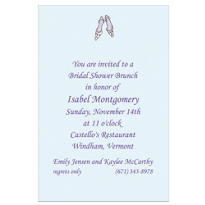 Bride Shoes Custom Wedding Invitation