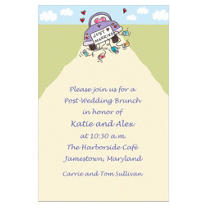 Just Married Custom Wedding Invitation