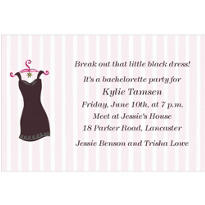 Little Black Dress Custom Invitation