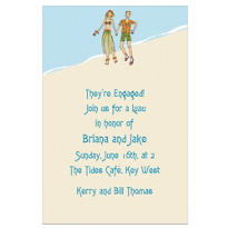 Luau Love Custom Wedding Invitation