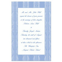 Periwinkle Ocean Waves Stripe Custom Invitation