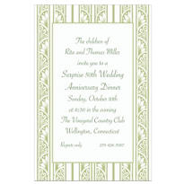 Sage Green Deco Stripe Custom Invitation