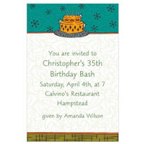 A Guy's Cake Custom Invitation