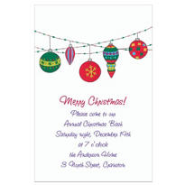 Dangling Mod Ornaments Custom Invitation