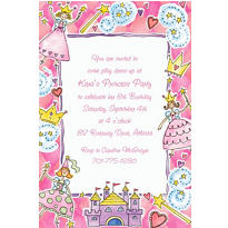 Princess Party Custom Invitation