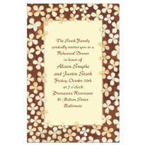 Simple Taupe Floral Custom Invitation