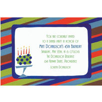 Custom Fetching Cake on Stripe Invitations