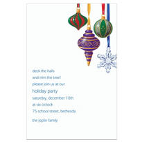 Shapely Ornaments Custom Invitation
