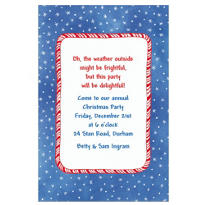 Candy Stripe & Stars Custom Invitation