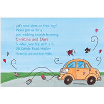 Just Married Getaway Car Custom Invitation