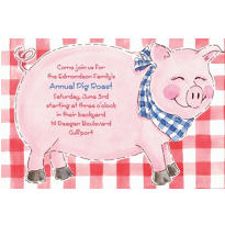 Custom Big Pig Roast Invitations