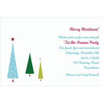 Tiny Christmas Trees Custom Invitation