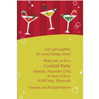 Merry Martinis Custom Invitation