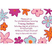 Bodacious Blooms Custom Invitation