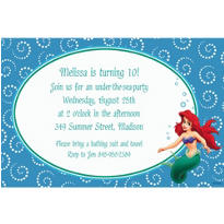 Ariel and Dotted Spirals Custom Invitation