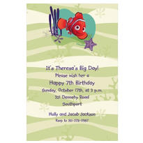 Nemo with Sea Coral Custom Invitation