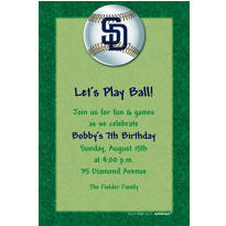 San Diego Padres Custom Invitation