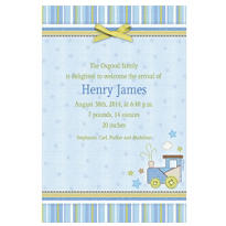 Carter Boy Custom Birth Announcements