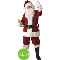 Adult Crimson Regency Plush Santa Suit Extra Large