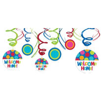 Welcome Home Swirl Decoration 12ct - Cabana Polka Dot