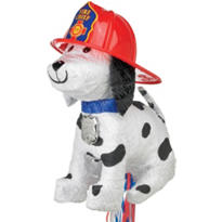Pull String Fire Dog Pinata 11in