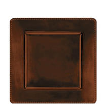 Brown Square Plastic Charger 12in x 12in
