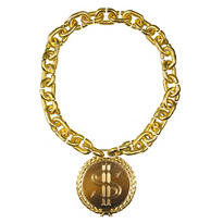 Hip Hop Bling Chain with Dollar Medallion