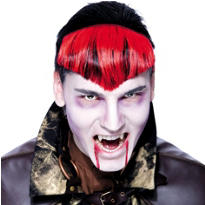 Red Gothwerk Widows Peak Hairpiece