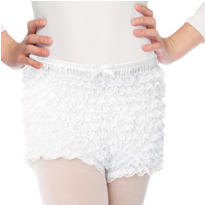 Child White Ruffled Shorts
