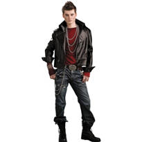 Adult Hell Rider Biker Jacket Costume