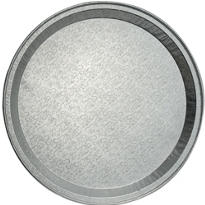 Embossed Aluminum Round Tray