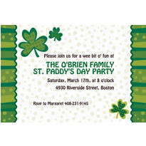 Lucky Wishes Custom St. Patricks Day Invitation