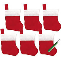 Christmas Stocking Decorating Kit 5in 7pc