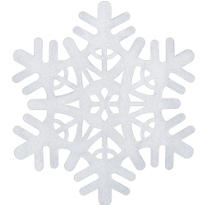 White Snowflake Hanging Decoration 15in