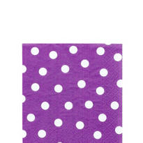 Plum Watercolor Dot Beverage Napkins 16ct