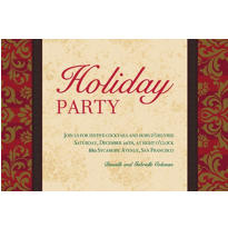 Holiday Style Custom Christmas Invitation