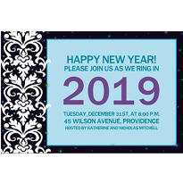 Elegant New Year's Custom Invitation
