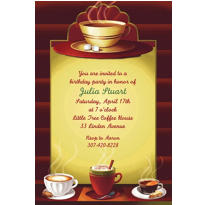 Cafe Classics Custom Invitation