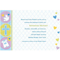Custom Blue Sweet Religious Invitations