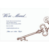 Vintage Key Custom Housewarming Invitation