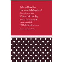 Polkadot Red Custom Christmas Invitation