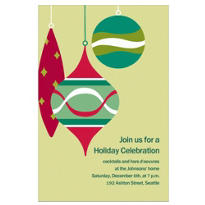 Retro Ornaments Custom Invitation